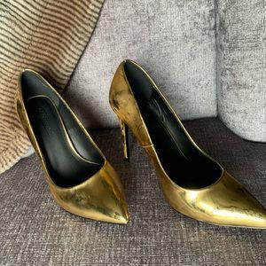 Size 10 ASOS Gold heels